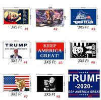 pancarta de ojales al por mayor-90 * 150cm Banderas Donald John Trump Amercia poliéster cabeza del metal del ojal de la personalidad Decortive Trump Banner Bandera MMA1651 60pcs-1