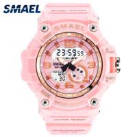 relojes digitales led al aire libre al por mayor-SMAEL Mujer relojes deportivos al aire libre Relojes LED Relojes digitales Relojes Mujer Ejército Militar gran línea de 1.808 mujeres reloj impermeable