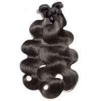 saç uzantıları kıvırcık dalga toptan satış-Brezilyalı Virgin Saç Paketler İnsan Saç Atkı Doğal Renk örgüleri Düz Vücut Dalga Derin Dalga Kıvırcık Gevşek Dalga Dalgalı Saç Uzantıları
