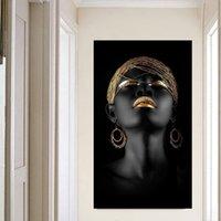 pôsteres mulheres venda por atacado-Pintura da lona Arte Da Parede Fotos prints mulher Negra sobre tela sem moldura decoração da parede Parede poster decoração para sala de estar