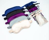 Faux Silk Sleeping Eye Mask with bag Portable Travel Sleep Masks Cover Eyepatch Blindfold Eyeshade Rest Relax Eye Patch Shade Light Pad