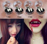 dentes brancos de vampiro venda por atacado-Dentes falsos do dia das bruxas Vampiro Dentadura Moda Dentes Zumbi Branco COSPLAY Acessórios do traje