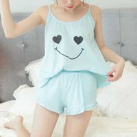 nachthemd heißes mädchen großhandel-Heiße Frauen-Mädchen-Dame Sleeveless Nightgown Set Pyjamas Sleepwear-Sommer-Riemen bequem für Haus IE998