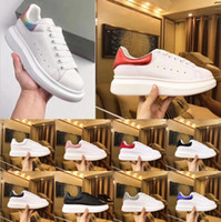 Wholesale prints for sale - Group buy Top Luxury Designer Shoes Womens Mens trainers White Leather Platform Shoes Flat Casual Party Wedding Shoes Suede Sports Sneakers