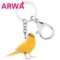 Wholesale accessories for birds resale online - ARWA Acrylic Bright coloued Canary Keychains Keyring Big Cute Bird Animal Key Chain Jewelry For Women Girls Teens Gift Accessory
