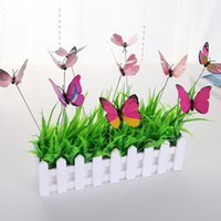 ingrosso pianta stelo-Artifical Butterfly Stakes With Long Stelo Stantuffo Plastica Pinrail Natale Outdoor Gardening Decorazioni per piante da interno 0 35ym D1