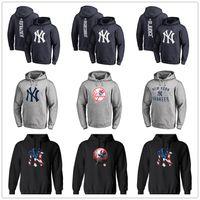 hoodies impressão venda por atacado-Nova York mens hoodies designer Yankees Marca Logotipo Primário Pullover Hoodie Com Splicing Draw string Mangas Compridas com capuz Moletons Impresso