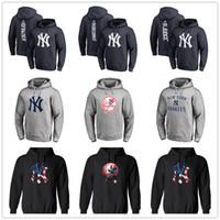 cuerdas de hombres al por mayor-Sudaderas con capucha de diseñador para hombre de Nueva York Sudadera con capucha con el logotipo principal de la marca Yankees Sudadera con capucha de empalme con mangas completas Sudaderas con estampado