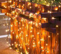 lanterna solar ao ar livre decorativo venda por atacado-Yangneng Lanterna 100 LED Linha Luz Estrela Luz Corda Indoor / Outdoor Solar Luz Decorativa para Terraço Jardim Decoração de Natal