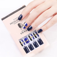 False Nail Artificial Tips 30pcs Reusable Glitter Full Cover for Decorated Design Press On Nails Art Fake Extension Tips
