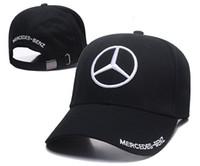 benz s toptan satış-Ücretsiz Teslimat Sıcak Satış Mercedes-Benz erkek Siyah Pamuk Ayarlanabilir Yumuşak Rahat Güneşlik Açık Spor Beyzbol Şapkası