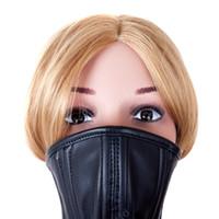 jouets sexuels pour couples achat en gros de-Masque, masque, collier, vente chaude, cuir PU souple, attache sexuelle, contrainte, Audi, jeu, couple sex toys