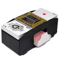 hediye kartı makineleri toptan satış-Otomatik Poker Kart Shuffler Oynarken Pil Kumandalı Karıştırma Makinesi Hediye Komik Aile Oyunu Kulübü Aksesuar