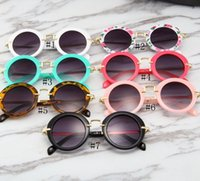 Wholesale sunglasses boys for sale - Group buy Children Round Sunglasses Kids Vintage Metal Frame Sun Glasses Fashion Sunglass Boys Girls Summer Beach Sun Glass GGA2375