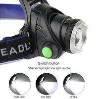 usb ir sensor groihandel-10000LUMS IR-Sensor-Scheinwerfer T6 Scheinwerfer Induction USB aufladbare Laterne LED-Kopf-Lampen-Taschenlampen-Fackel durch 18650