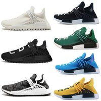 925fc0ceb15b3 Classic Human Race trail running shoes Pharrell Williams Hu runner Nerd  black Yellow White women mens trainers sports sneakers size 36-47