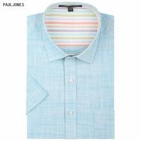 7cb66df74 Venta al por mayor de marca de lino de los hombres camisas de manga corta  para hombre vestido casual de alta calidad para hombre verano china  importados ...