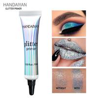 lotionmilch großhandel-drop ship HANDAIYAN Make-up Glitter Primer Langlebige Lidschattenfarbe Spezielle Grundierung für Augen Leichte Milchcreme Textur Frauen Kosmetik