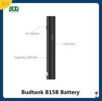 ingrosso vagliare la penna passthrough-Budtank B15B Preriscaldamento VV Batteria 290mAh Passthrough USB Voltage variabile Vape Pen E Cig Vaporizzatore per 510 Cartridge Authentic