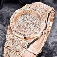 armbanduhrcharme großhandel-Lvpai 2018 Bling Uhr Frauen Armband Marke Uhr Damen Gold Damenuhr Mit Strass Hohe Qualität Charme Armbanduhr A4