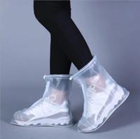 Wholesale rain boots heels resale online - Rain Boots Low Heel Platform Waterproof Shoes Ankle Boot Antiskid Shoe Women Men Footwear Shoe Cover Ankle Outdoor Girls Shoes YP360