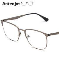 158b5d0a0e6 ANTEOJOS Women Men s Eyeglass Frame 2019 Luxury Brand Spring Hinge Square  Metal Myopia Eye Glass Prescription Spectacle Oculos