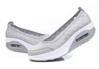 Wholesale women nurse shoes resale online - Hot Sale Fashion Mesh Casual Tenis Shoes Shape Ups thick low heel Woman nurse Fitness Shoes Wedge Swing Shoes moccasins plus size