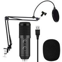 стоит оптовых-BM 900 конденсаторный USB-микрофон студия с подставкой штатив и поп-фильтр микрофон для компьютера караоке ПК повышен с BM 800