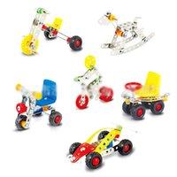 ingrosso bicicletta del metallo giocattolo-3D del metallo dell'Assemblea veicoli di modello Kit Toy auto bicicletta Triciclo Moto costruzione puzzle della novità dei bambini esperimento scientifico puntelli C1439