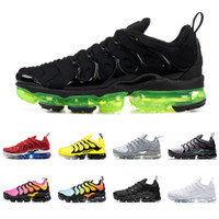 dfbeacad2f Wholesale running shoes usa resale online - 2019 TN plus men women running  shoes triple BLACK
