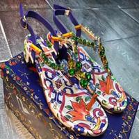 sandálias baixas sexy venda por atacado-Verão nova tendência de moda D-G, sandálias não-escorregadias, sexy ladies'shoes confortáveis, couro sapatos de luxo tamanho 34-42 numbe: 51-9556