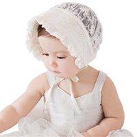 ingrosso beanie del merletto della neonata-1-2T del cappello infantile del bambino neonate bambini Fotografia Lace Cap Beanie Bonnet Cappelli Capelli primavera per bambini Accesorries Dropshipping 113