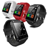 akıllı izleme senkronizasyon çağrıları toptan satış-Smartwatch Bluetooth Smart İzle U8 Saatler Spor İzle Pedometre Mesaj SMS Sync ile Çağrı Hatırlatma Uzaktan Kamera