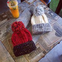 меховые изделия оптовых-Женщины вязаная мягкая бейсболка девушки зимний мех Pom Bobble Hat открытый теплый Вязание крючком лыжная шапка мода Шапочка шляпа LJJT1611
