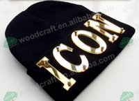 Wholesale rivets knitted cap for sale - Group buy Custom caps Arylic ICON custom hat d letters Stud Rivet Hip hop Hat beanies knitted caps