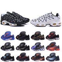 Wholesale plus size boots sale for sale - Group buy Hot Sale Chaussure TN Plus Running Shoes For Men Outdoor Triple Black White Hot Mens Trainers Hiking Sports Athletic Sneakers Size
