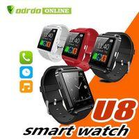 ich sehe smartwatch an großhandel-U8 Android Bluetooth Smart Watch Armbanduhr für i Phone 4 4S 5 5S S5 Smartwatch Electronic 2014 Neu mit Fernbedienung