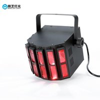 Wholesale butterfly effect resale online - Dj Equipment Mini Led w Rgbw in1stage Effect Indoor Butterfly Light Derby Light Disco Night Club