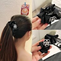 Wholesale lovely ladies leather for sale - Group buy Fashion Camellia Women Clamps Lovely Bow Knot Hair Claws Clip for Lady Simple Style Female Hair Jewelry