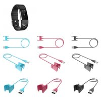 yonga kablosu toptan satış-Moda Akıllı Bilezik Şarj Hattı Ile Cips USB Saf Renk Şarj Kablosu Fit Charge2 Bileklik Açık Araçlar ZZA1134