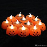 Wholesale halloween electronics for sale - Group buy new Halloween pumpkin lamp lantern bar KTV atmosphere decoration props LED electronic party Candle Light small night JXW312