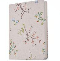 niedliche koreanische notizblöcke großhandel-kreatives Stoffnotizbuchblumenschulstudentanmerkungsbuch nette Blumenstreifenabdeckung Notizblöcke koreanisches Designgeschäft notapdas Reise-Journal