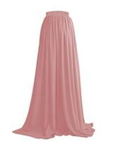 шифон свадебное платье оптовых-Женская юбка с завышенной талией Весеннее и летнее платье на заказ из шифона свадебное банкетное платье из дикой плиссированной юбки