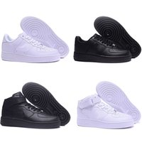 Wholesale wheat air forces resale online - 2019 High Quality New Classical All High and low White black Wheat men women Sports Running Shoes Forcing skate sneakers