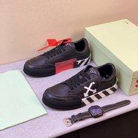 neue low top weiße turnschuhe groihandel-New Vulc Low Top Sneakers Virgil Suede Herrenschuhe Plattform Vulcs Schwarz Weiß Art und Weise weg Frauen Canvas Größe beiläufige Schuh-Trainer 12