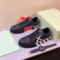 ingrosso scarpe da skate di camoscio-Nuovo Vulc Low Top Sneakers Virgilio pelle scamosciata Mens piattaforma Scarpe Vulcs modo nero Bianco off Women della tela scarpe casuali formatori Size 12