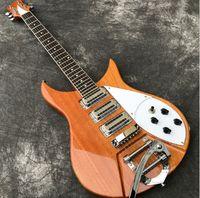 Wholesale electric guitar natural color resale online - In Stock Natural Color Electric guitar with tremolo Bridge Pickups are Made in Korea Solid Mahogany Guitarra