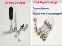 e zigarettenbehälter glas großhandel-510 Cartridge Glass Vaporizer Keramikzerstäuber E-Zigarette leer Th205 TH105 Keramikspule Dank Vape Cartridge Tank dank Carts Smart Pen