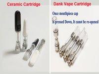seramik sigaraları toptan satış-510 Kartuş Cam Buharlaştırıcı Seramik Atomizer E-Sigara boş Th205 TH105 Seramik Bobin Dank Vape kartuş tankı G5 Arabaları Akıllı Kalem