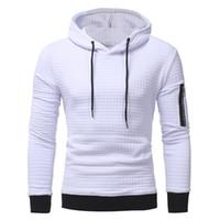 Wholesale korean button hoodie resale online - 2019 New High end Casual Hoodie Men Fashion Unique Korean Style Long sleeved men Sweatshirt good quality